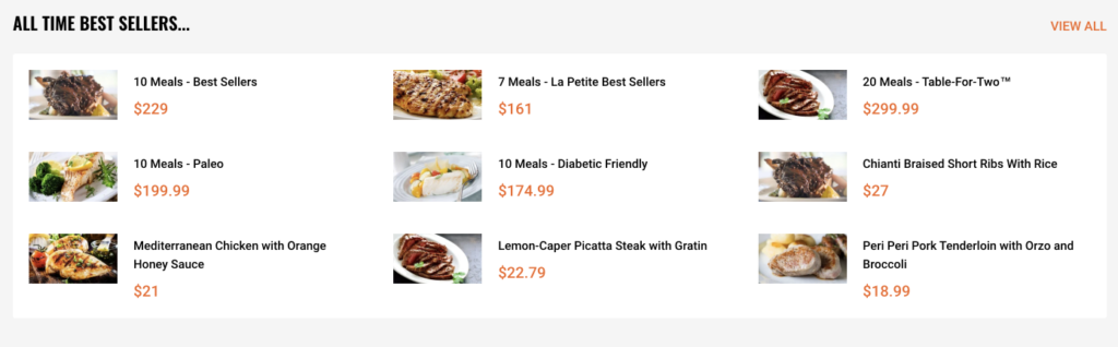 gourmet frozen food delivery service
